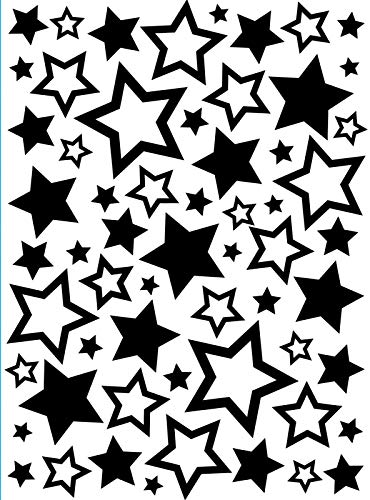 Darice Embossing Folder Cartella per Goffratura Mascherina Stelle, 10.8x14.6x0.3 cm