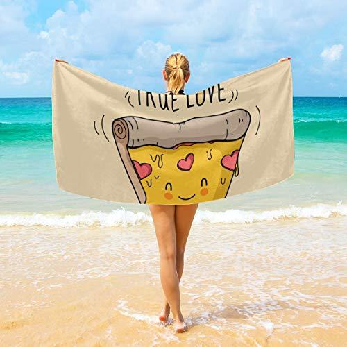 True Love Form Pizza - Toalla de baño grande para hombre y mujer