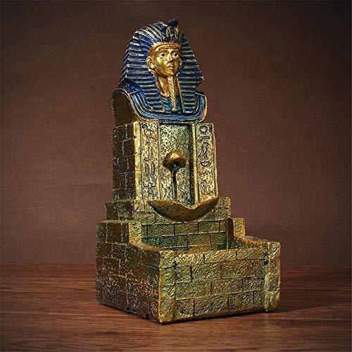 Jenghfnifer Quemador de incienso seráfico egipcio de reflujo de reflujo dorado, quemador de incienso para decoración artesanal