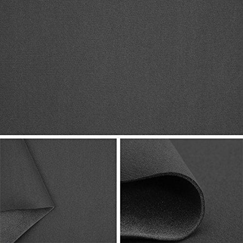 FORTISPOLSTER Himmelstoff Autostoff Polsterstoff Bezugsstoff kaschiert SAM129 (Dunkelgrau)