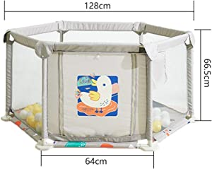 Baby Playards Breathable Anti Fall Hexagonal Infant Playpen With Door Removable Washable Safety Fence Play Center For Beach Park Room Baby Products