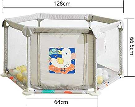 Baby Playpen Prevent Rollover Removable Breathable Safety Fence Playard With Door Washable Hexagonal Infant Play Area For Indoor Outdoor Babies Products