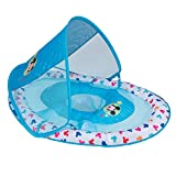 SwimWays Inflatable Infant Baby Swimming Pool Float w/ Canopy, Mickey...