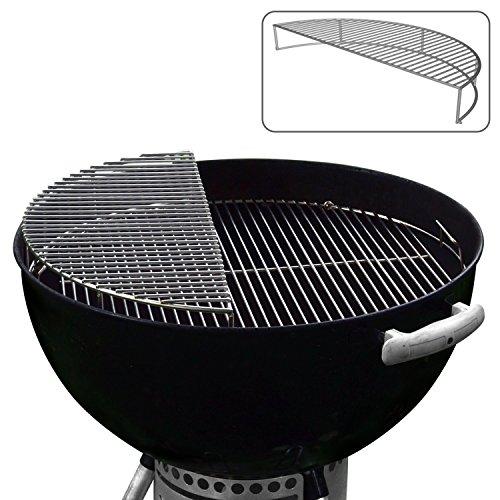 JX Edelstahl Warm/Grill / Rauch Expansion Grid - Für den Einsatz mit 57 cm Kessel Grills