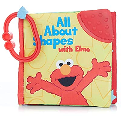 KIDS PREFERRED Sesame Street On The Go All About Shapes with Elmo Soft Teether Book, 5 by Kids Preferred