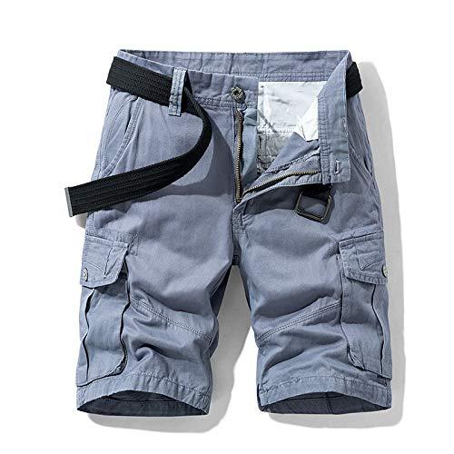 Pantalones Cortos Casuales de Carga de Todo fósforo para Hombres Tendencia de la Moda de Verano Pantalones Cortos Sueltos cómodos de Trabajo de Combate al Aire Libre con Multibolsillos 30
