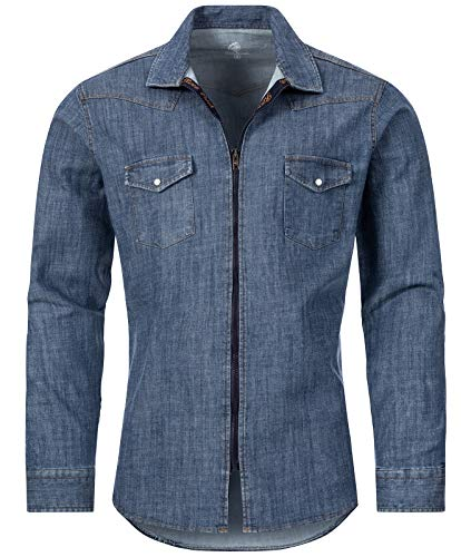 Rock Creek heren jeans overhemd overgangsjack M54