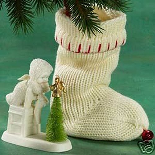 Department 56 Snowbabies All I Want for Christmas Stocking & Porcelain Figure