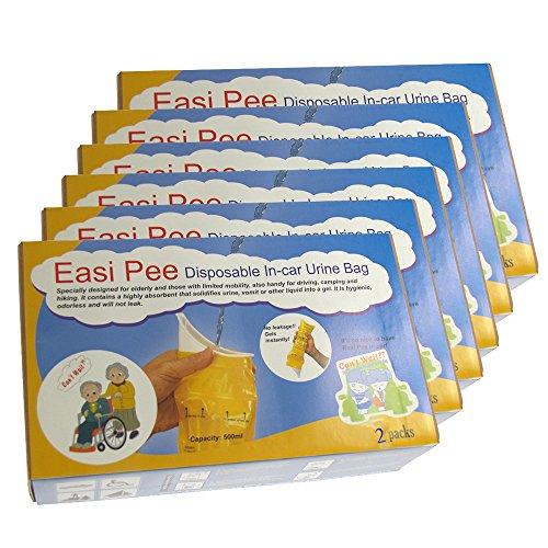 Easi Pee Disposable Urine Bags (6-2packs)