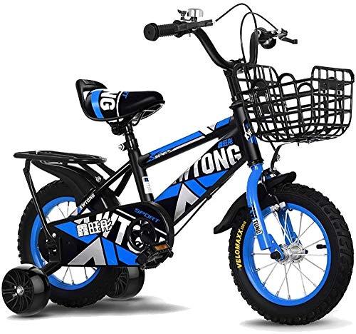 12 14 16 18 Kids Bicycle con Pedales para niños y niñas Ruedas de Entrenamiento extraíbles Frenos 3 Colores