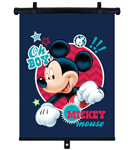 Disney 9310 3 Sonnenschtzrollo 3645 cm-Universal, für alle Fahrzeuge, Zwei Befestigungsverfahren, automatisch einfahrbahr