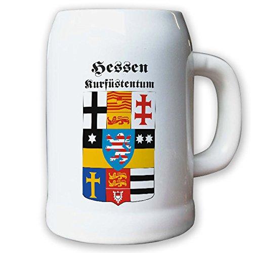 Krug/Bierkrug 0,5l - Hessen Kurfürstentum historisch historisches Wappen #9497