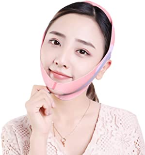 Afslankband voor gezicht, dubbele kinverkleiner Afslankmasker voor het gezicht Verstevigend en strakker, V lijn opheffend ...