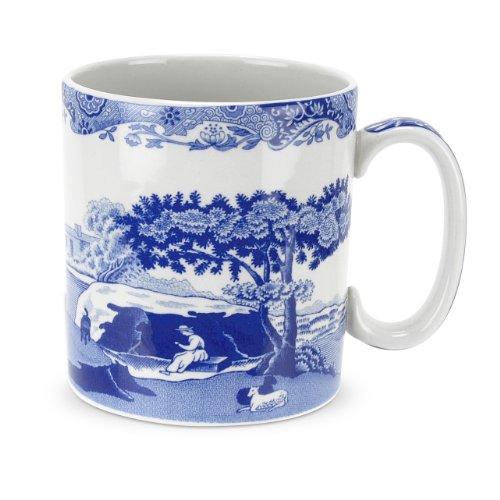 Spode Italienische Tassen, Blau, 4 Stück