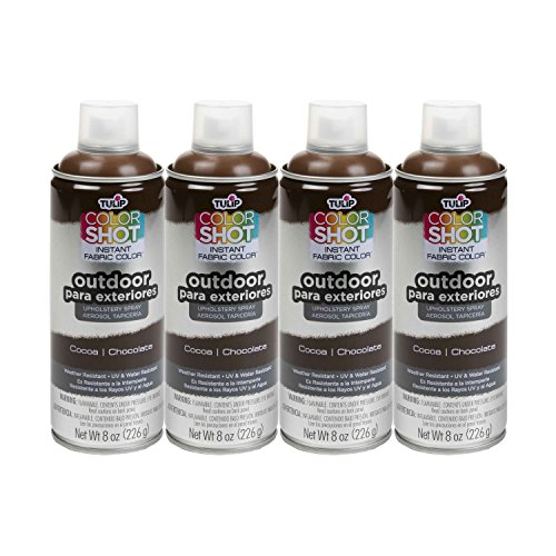 Bulk buy: Tulip ColorShot Outdoor Upholstery Spray Paint 8 oz. 4-pack, Cocoa