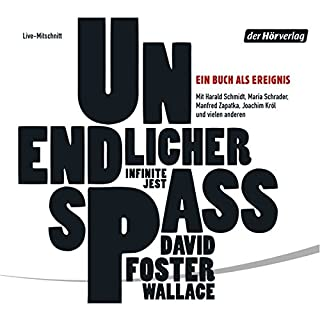 Unendlicher Spaß                   De :                                                                                                                                 David Foster Wallace                               Lu par :                                                                                                                                 Harald Schmidt,                                                                                        Joachim Król,                                                                                        Maria Schrader                      Durée : 2 h et 48 min     Pas de notations     Global 0,0