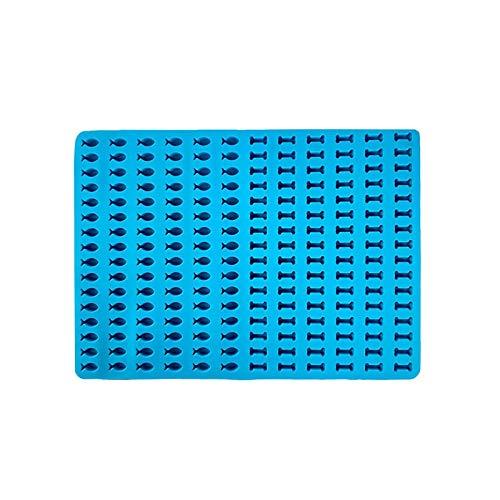 BETUGIFT Backmatte Silikon, mehrzweck Silikonmatte für Backofen, Silikon Backform Mini Fisch Pralinenform, Schokoladenform 1-1.5cm Backform Mini Hundekekse,Hitzebeständig (BPA-Frei)