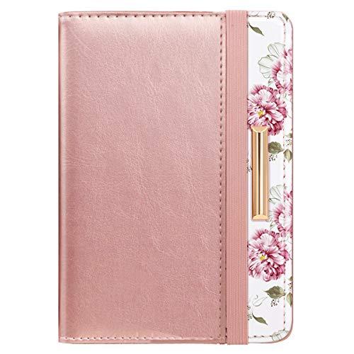 Passport Holder Cover Travel RFID Blocking Passport Cover Cute Slim Passport Wallet with Elastic Band for Women