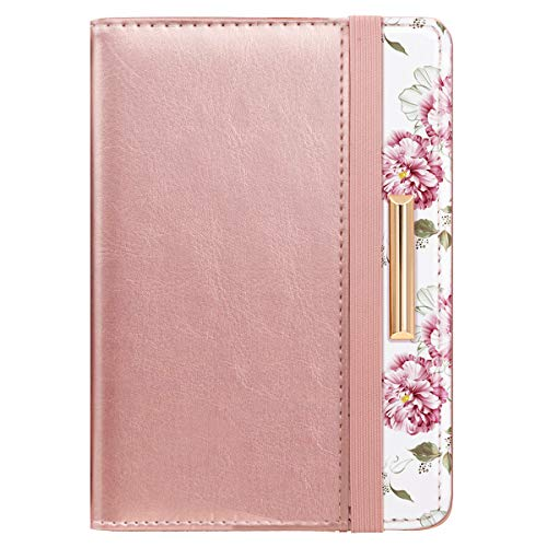 Passport Holder Cover Travel RFID Blocking Passport Cover Cute Slim Passport Wallet with Elastic Band for Women