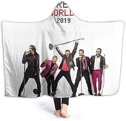Kapuzendecke 3D Backstreet Boys DNA Tour 2019 Super Soft Sherpa Fleece Decke 150x200cm