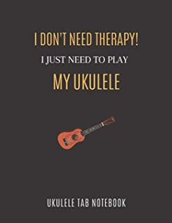 Ukulele Tab Notebook: Sheet Music Workbook with Chord Boxes and Blank Tablature Lines, Composition For Beginners and Profe...