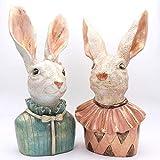2 Hasenskulpturen 50 cm hoch, Hasenfiguren Heidi und Heinz