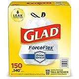 Glad ForceFlex Bolsas de basura altas con cordón de 13 galones...