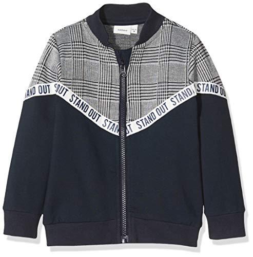 NAME IT Jungen NMMTOMS LS SWEAT CARD BRU Sweatshirts, Mehrfarbig (Dark Sapphire), 110