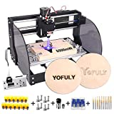 2-in-1 Upgrade 3018 Pro-M CNC Router Kit, 5500 mW CNC Engraving Machine GRBL Control 3 Axis PCB Milling Machine, Wood Router Engraver with Offline Controller