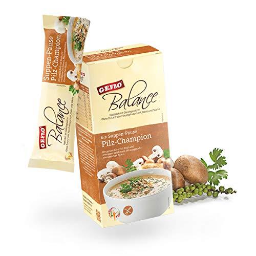 GEFRO Balance Suppen-Pause Pilz-Champion: 6 Portionsbeutel, warme Mittagspaue & Mahlzeit