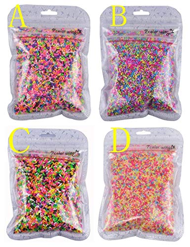7COLOR WINGS 100g Colorful Fake Candy Sweets Sugar Sprinkles Decorations for Fake Cake Dessert Simulation Food (D)