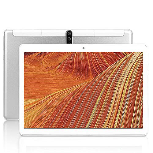 10-Zoll-Android-Tablet, Octa-Core-Prozessor, Android 9.0, 1280 x 800 IPS HD-Display, Dual-Kamera, Bluetooth, GPS, 64 GB, 5G-WLAN, UV6 (Silber)