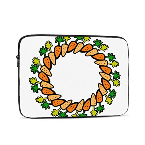 Laptop Sleeve Case 13 Inch Carrots Wreath Cartoon Laptop Sleeve/notebook Computer Pocket Case/tablet Briefcase Carrying Bag
