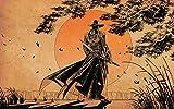 XXUREJK Rompecabezas Divertidos, Samurai de Estilo Occidental Caminando por el Sol Naciente, Imagen de Rompecabezas de Papel para Adultos, hogar -1000 Piezas 38x26 CM