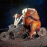 【Motorcycle Chicken Stand】 Imaginez à quel point vos amis seront impressionnés lorsque vous vous présenterez avec cette moto Freedom Rider! 【Outil de barbecue tool Outil de barbecue parfait pour les fêtes dans la cour, le cadeau de chalet, l'Action d...