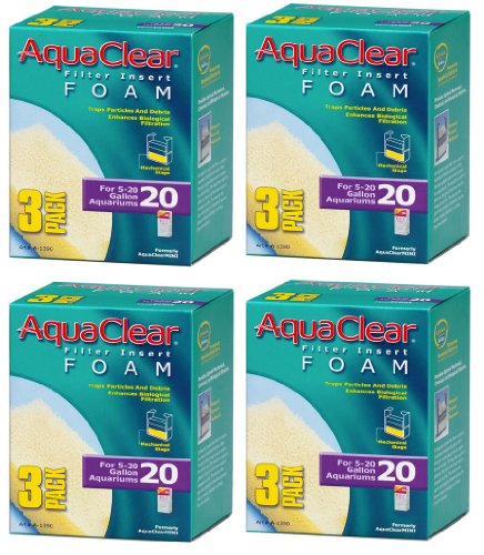 AquaClear – Inserts en Mousse, 3-Pack (12-Pack, 20-Gallon)