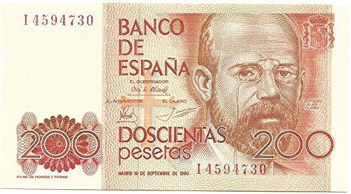 MATIDIA ESPAÑA 1980 Billete Original DE 200 PESETAS Leopoldo ALAS CLARÍN
