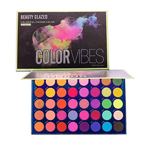 Beauty Glazed 40 Farben Lidschatten Palette Bunt Regenbogen Colour Board Schminkpalette Set Matt Schimmern Bunte Makeup Professionelles Eyeshadow Cosmetics