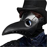 Plague Doctor Mask, Exquisite Steampunk Plague Mask for Halloween Cosplay Party, Creepy Long Bird Beak Costume Mask for Masquerade