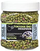 A complete and balanced holistic food for tortoises Suitable for European and Russian tortoises Superior taste with natural flavours High in fibre, low in protein Calcium to phosphorus ratio of 3:5:1