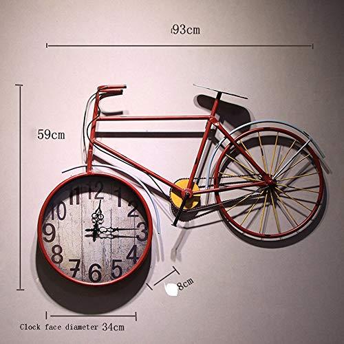Wall Clock Reloj de Pared de época Grande, decoración de Reloj de ...