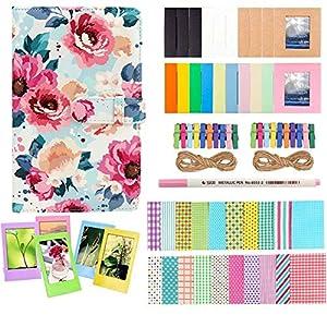 Anter Photo Album Accesorios Compatible con Fujifilm Instax Mini Camera, HP Sprocket, Polaroid Zip, Snap, Snap Touch Impresora Films con Film Stickers, Album & Frame