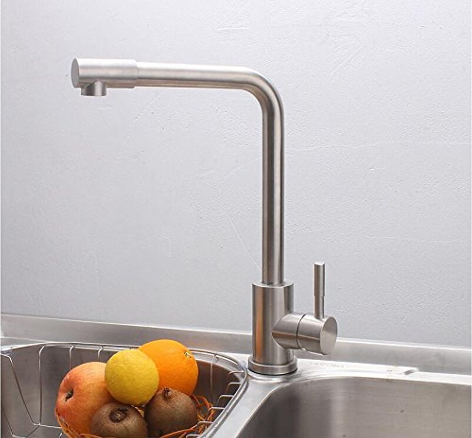 Ytdzsw 304 Stainless Steel Wash Basin Kitchen Hot And Cold Water Mixing Valve Plumbing Bath Faucet.