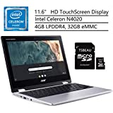 "Acer Chromebook Spin 311 Laptop, Intel Celeron N4020, 11.6"" HD Touchscreen, 4GB LPDDR4, 32GB eMMC, Gigabit WiFi 5, Bluetooth 5.0, Google Chrome, Bundled with TABEAU 16GB Micro SD Card"