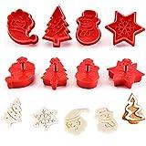 ZBSY Moldes para Galletas Navidad,Galletas Navidad Moldes,Cortador Tridimensional para Galletas,Set de 4 Moldes,Red