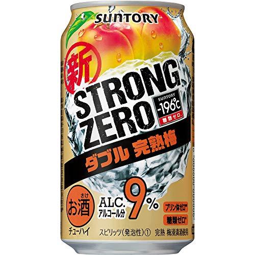 サントリー ストロングゼロ ー196℃ ストロングゼロ ダブル完熟梅 350ml×24