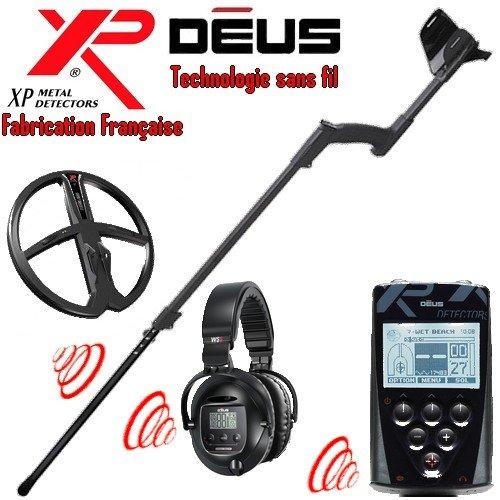 Metal Detectors Xp-Detector De metales Deus Full 4-Tecnología inalámbrica con mando a distancia-Auriculares Ws5-Disco duro Dd, 28 Cm, incluye protector para disco-Caña telescópica En S