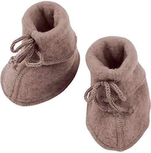 Engel Natur, Baby-Schühchen Fleece, 100% Wolle (kbT) (1 (50/56), Walnuss Melange)