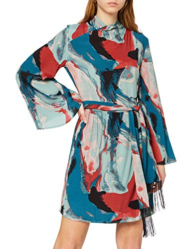 Won Hundred Elena Vestito Elegante, Multicolore (Abstract Watercolor Print), 36 (Taglia Produttore: 32) Donna