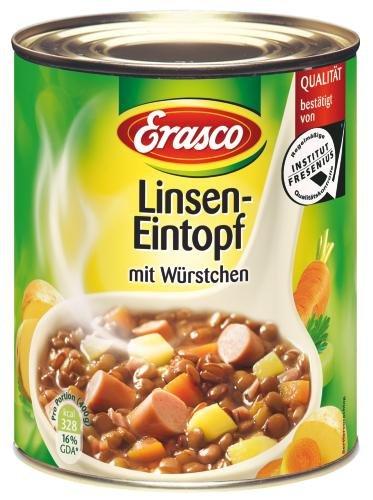 Erasco Linseneintopf mit Würstchen, 6er Pack (6 x 800 g Dose)